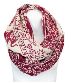 Loving this Berry Elephant Infinity Scarf on #zulily! #zulilyfinds