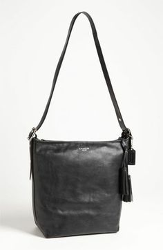 COACH 'Legacy - Duffle' Tasseled Leather Shoulder Bag available at #Nordstrom LOVE the cognac color!