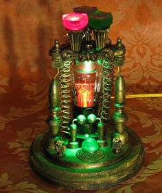 Retro Steampunk Industrial Tesla lamp.