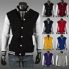 Timeless Trends Always Available    http://heveen.com/men-s-slim-contrast-color-cardigan-sweater-13084.html