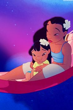 Lilo and Stitch. Aloha ʻoe, aloha ʻoe E ke onaona noho i ka lipo One fond embrace, A hoʻi aʻe au Until we meet again