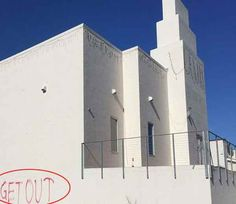 US : ઓબામાના નાક નીચે હિન્દુ મંદિર પર હુમલો, GET OUT Hindu Temple, International News, Getting Out, Floor Plans, Community, America, Hate, Floor Plan Drawing, Usa