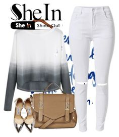 """Shein"" by lili123-2 ❤ liked on Polyvore featuring Topshop, Jimmy Choo, women's clothing, women's fashion, women, female, woman, misses and juniors"