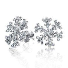 Snowflake Stud Earrings.. Perfect for my upper lobe! :)