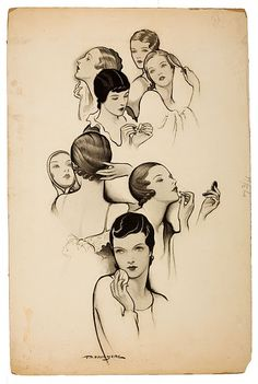 Vintage hair styles - Would love to have this in a frame :)