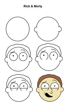 Rick and morty drawing Easy drawings Drawing for beginners Simpsons drawings Ric. - Rick and morty drawing Easy drawings Drawing for beginners Simpsons drawings Rick and morty Cartoon - Easy Drawing Tutorial, Trippy Drawings, Doodle Drawings, Art Drawings Sketches, Disney Drawings, Pencil Drawings, Rick Und Morty, Drawings With Meaning, Rick And Morty Drawing