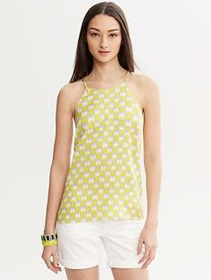 Milly Collection Printed Halter Top at bananarepublic. Top Banana, Fashion Beauty, Womens Fashion, Chic Outfits, Spring Summer Fashion, Banana Republic, Blogging, Style Inspiration, Stitch
