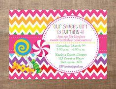 Candy Shop Chevron Birthday Party Printable by BirdieSaysCawCaw, $12.00
