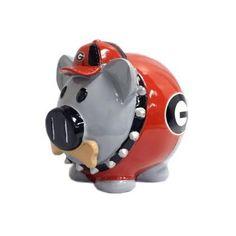 Georgia Bulldogs Thematic Piggy Bank