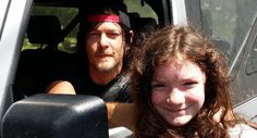'The Walking Dead': New video and photos of Norman Reedus with two young fans in Senoia 6/18/15