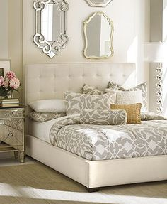 Manhattan Bedroom Furniture Collection- Love decorations, bedspread and night stands