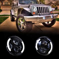 Cheap halo angel eyes, Buy Quality angel eyes directly from China jk wrangler Suppliers: Pair JK Wrangler 7 Inch Round LED Headlight Halo Angel Eye / DRL LED Projection Lens For Harley Motorcycle LJ Tj FJ Jeep Jeep Jk, New Jeep Wrangler, Jeep Wrangler Unlimited, Jeep Wrangler Headlights, Led Halo Headlights, Jeep Parts, Fj Cruiser, Angel Eyes, Car Lights