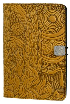 Leather Kindle Covers and Cases | Van Gogh Sky | Oberon Design