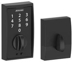 Schlage BE375-CEN Century Touch Deadbolt Matte Black Deadbolt Keyless Entry Electronic