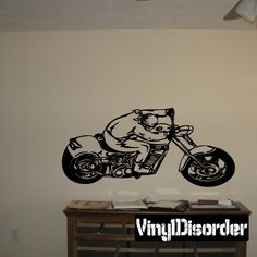 Chopper Wall Decal - Vinyl Decal - Car Decal - SM063