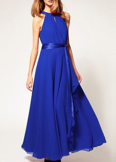 Lovely Chiffon Halter Dress