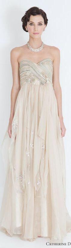 Catherine Deane bridal 2012 eldora giselle champagne wedding dresses