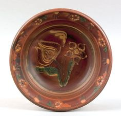 American redware bowl, 19th c.
