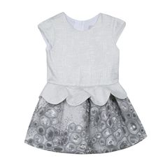 3862f9bc2fcf3 Catimini - Toddler Girl Couture Silver Dress