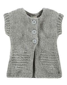 Baby Cardigan, Benetton - Tejido C Free Chunky Knitting Patterns, Knitting For Kids, Knitting Designs, Knit Patterns, Baby Cardigan, Crochet Cardigan, Crochet Baby, Knit Crochet, Knit Vest Pattern