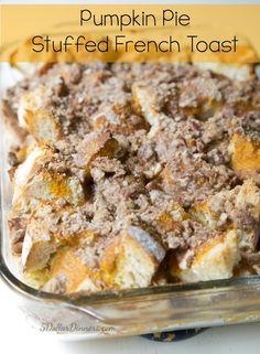 Pumpkin Pie Stuffed French Toast on 5DollarDinners.com