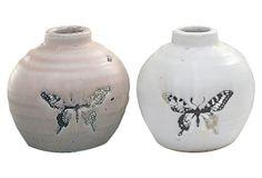 Terracotta Butterfly Vases, Asst. of 2 on OneKingsLane.com