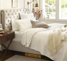 Love the Chesterfield Upholstered Bed & Headboard