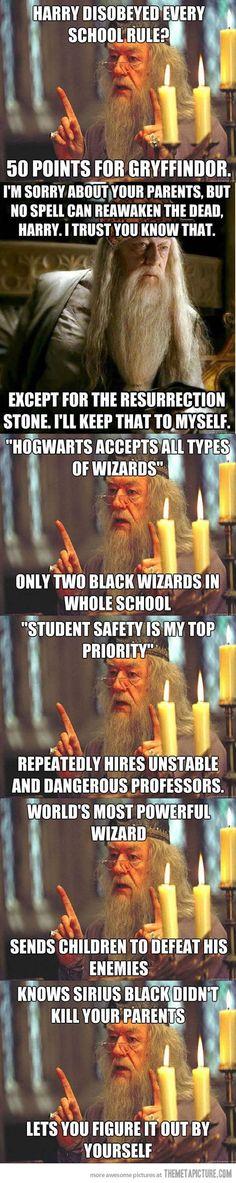 Dumbledore, Hogwarts' biggest troll…