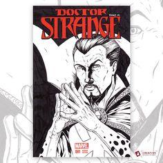 Did a sketch of Doctor Strange last night. Original artwork on a sketch cover comic book.  #sketchcover #doctorstrange #marvelcomics #drawing #comicart