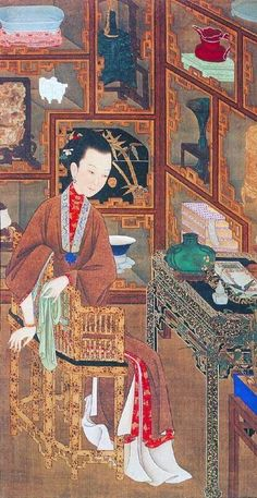 Chinese art royal painting by artists of Qing Dynasty