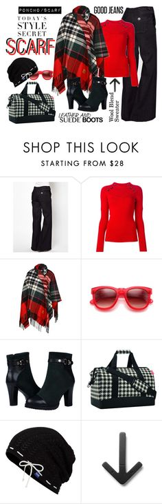 """glad it's plaid"" by ffendi ❤ liked on Polyvore featuring MiH Jeans, Isabel Marant, Vivienne Westwood, Wildfox, Reisenthel, Keds, Design House Stockholm and scarf"