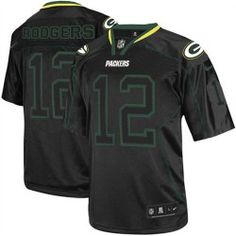 Mens Nike Green Bay Packers http://#12 Aaron Rodgers Elite Lights Out Black Jersey$129.99