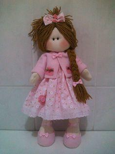 Patrón de muñeca rusa con vestido