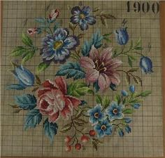 ANTIQUE VINTAGE BERLIN WOOLWORK CHART HAND PAINTED TAPESTRY EMBROIDERY WOOL AB in Antiques, Fabric/ Textiles, Embroidery | eBay Cross Stitch Bird, Beaded Cross Stitch, Cross Stitch Flowers, Cross Stitch Charts, Cross Stitching, Cross Stitch Embroidery, Hand Embroidery, Cross Stitch Patterns, Vintage Ornaments