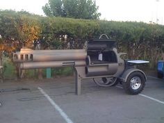 Custom BBQ smoker ( 'cause we are serious about our barbecue! Pit Bbq, Barbecue Grill, Grilling, Barbeque Nation, Parrilla Exterior, Outdoor Furniture Sets, Outdoor Decor, Modern Furniture, Guns And Ammo