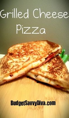 Grilled Cheese Pizza Tastes like a pizza and a grilled cheese sandwich! Repined by @horoskopi