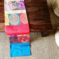 Shopo | Product from Anek Designs Shop | Kantha+ Brocade Patchwork Runner