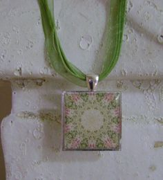 Shabby Chic Floral Pendant  Necklace by BellasChicCollezione, $16.00