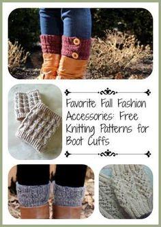 Favorite Fall Fashion Accessories: 13 Free Knitting Patterns for Boot Cuffs | AllFreeKnitting.com