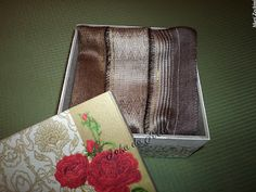 Caixa Romance floral com echarpe
