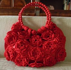 Crochet Flower Handbag