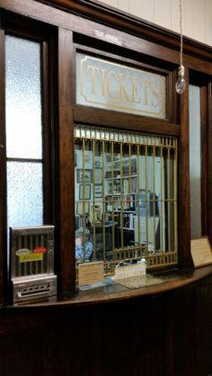 Ticket window in the Rock Island Train Depot El Reno Oklahoma