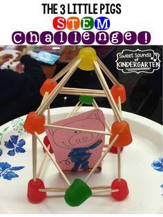 Sweet Sounds of Kindergarten : The 3 Little Pigs- STEM Challenge! Sweet Sounds of Kindergarten : The 3 Little Pigs- STEM Challenge! Stem Science, Preschool Science, Teaching Science, Life Science, Science Space, Teaching Career, Elementary Science, Teaching Strategies, Elementary Education