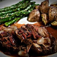 "Beef Tenderloin with Roasted Shallots | ""The very best recipe on this site! I've made this with both port and cabernet and I think I like the cabernet better."" http://allrecipes.com/recipe/beef-tenderloin-with-roasted-shallots/Detail.aspx"