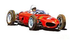 fineartamerica Ferrari Dino 156 1962 Yuriy Shevchuk