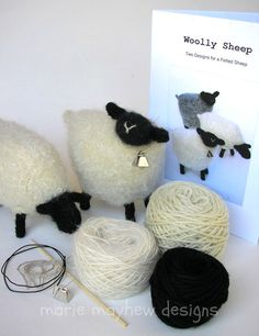 yarn into felted sheep