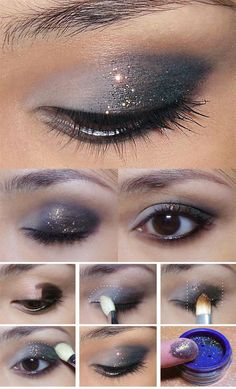 35 Glitter Eye Makeup Tutorials - Subtle, Glitzy New Year Glitter Eye - Step By Step DIY Glitter Eye Make Up Tutorials that WIll Make Yours Eyes Sparkle - Silver and Gold Linda Hallberg Looks, Awesome Eyeshadow Products, Urban Decay and Looks for Your Eyebrows to Make You Look Like a Beauty - thegoddess.com/glitter-eye-makeup-tutorials