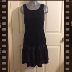 Black  Lace Dress Cute black lace dress that hits a few inches above the knee. It is lined with zip up closure at the back. Never worn. It's a Junior medium size. Pricing low doesn't mean it's worth any less than the others or it has any flaws. Just offering a good deal to have more space in my closet. Speechless Dresses Midi