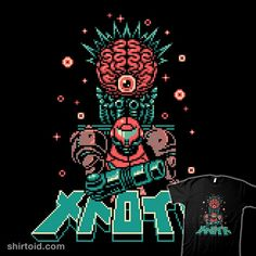 Final Boss | Shirtoid #8bit #gaming #metroid #motherbrain #pixelart #pixeleyebat #samusaran #videogame