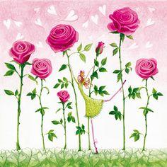 0484 Servilleta decorada flores